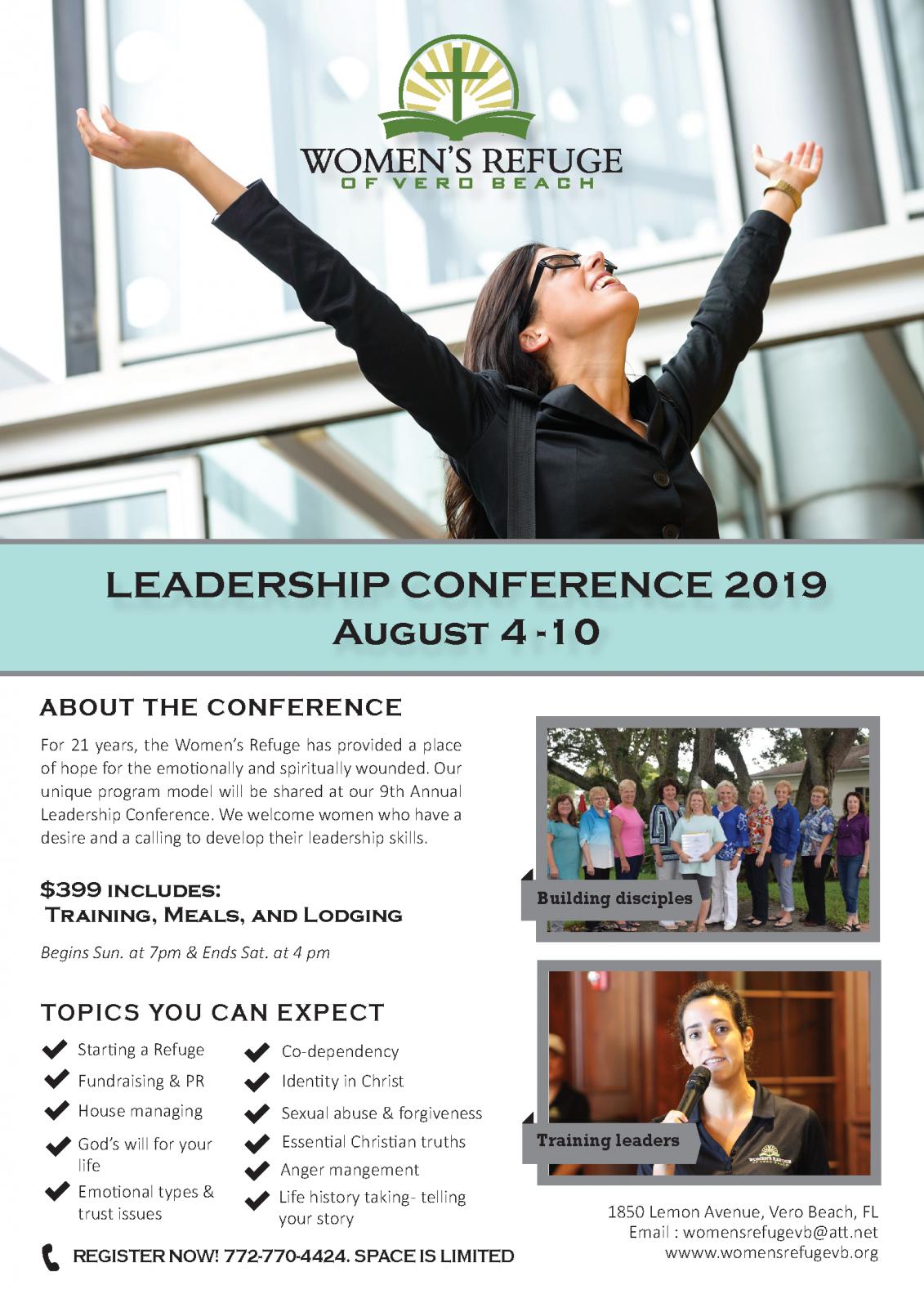 Leadership Conference 2019 - August 4 - 10 - WomensRefugeVB org