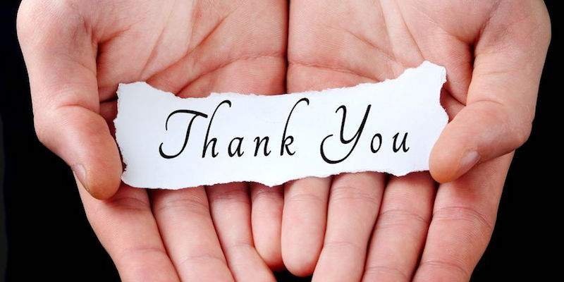 "Image of Hands, says ""Thank You"""